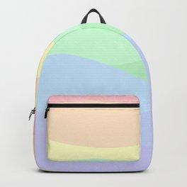 rainbow waves unicorn colors Backpack