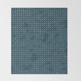 Hand Drawn Dots on Dark Teal Throw Blanket