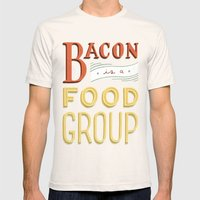 Bacon is a Food Group 2X-LARGE Natural Mens Fitted Tee