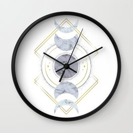 Marble Moon Phases Wall Clock