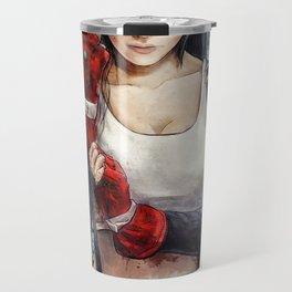 Final Fantasy VII Tifa Lockhart Painting based on Lady Zero's Cosplay Travel Mug