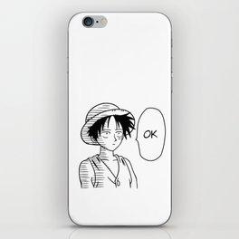 Ok Luffy iPhone Skin