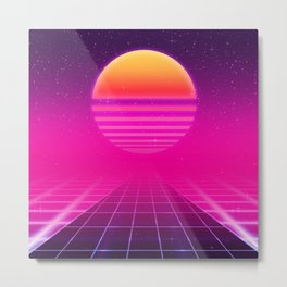 Futuristic space background Metal Print