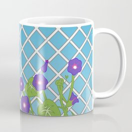 Morning Glory Pattern Blue Sky Coffee Mug