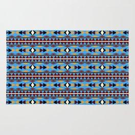 Navajo Blue Pattern Art Rug