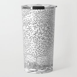 Banyan Tree Driveway - Line Art Travel Mug