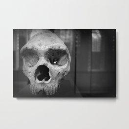 Neanderthal Skull, Natural History Museum, London, UK Metal Print