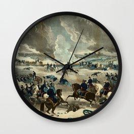 Battle of Gettysburg by Thomas Kelly Wall Clock