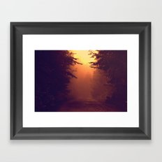 One Foggy Morning Framed Art Print