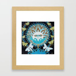 Journey of the Luna Moth Art Nouveau Mandala by Jeanne Fry Framed Art Print