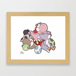 Pile Framed Art Print