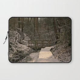 Snowy Ironbridge Gorge Laptop Sleeve