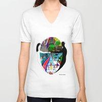 korea V-neck T-shirts featuring A trip to Korea  by doctusdesign