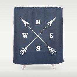 Compass arrows Shower Curtain