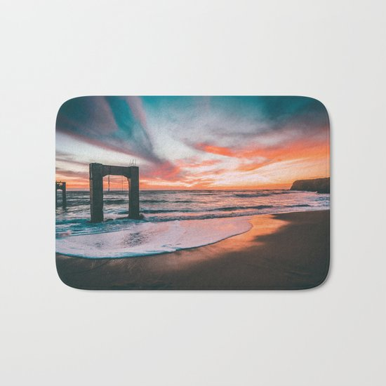 Sunset sky sea Bath Mat