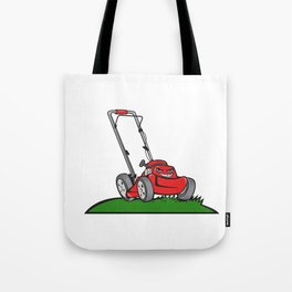 Lawnmower Front Isolated Cartoon Tote Bag