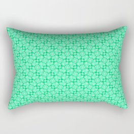 Twisted Turquoise and Mint Green Abstract Leaf and Lines Country Kitchen Design Pattern Rectangular Pillow