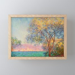 Antibes in the Morning by Claude Monet in 1888 Framed Mini Art Print