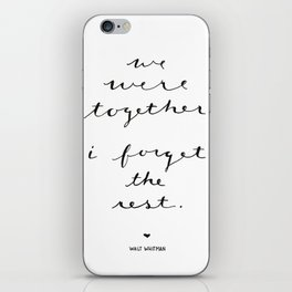 Together Love Print Valentine iPhone Skin