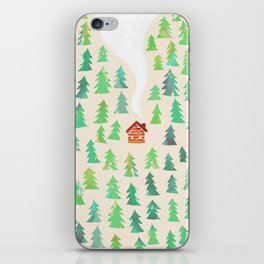 Alone in the woods iPhone Skin