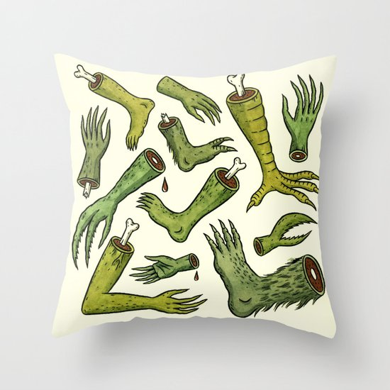 Disiecta Membra No. 2 Throw Pillow