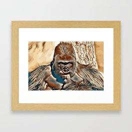 Thinking Gorilla Framed Art Print