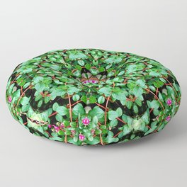 mandala with green leaves Floor Pillow