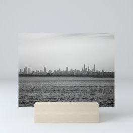 Across the Sea, black and white #2 Mini Art Print