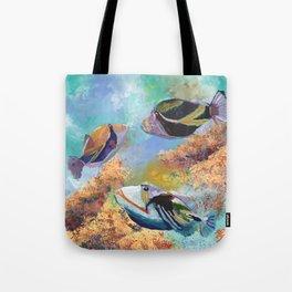 Humuhumu Tropical Fish 3 Tote Bag