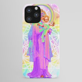 Our Lady of Sacred Geometry iPhone Case
