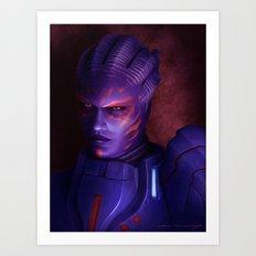 Mass Effect: Captain Wasea Art Print
