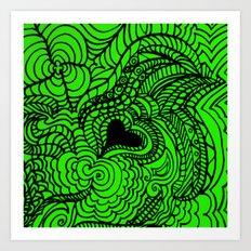 LOVE LIME Art Print