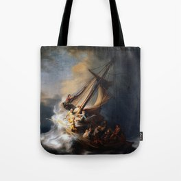 Stolen Painting - The Storm on the Sea of Galilee by Rembrandt Tote Bag