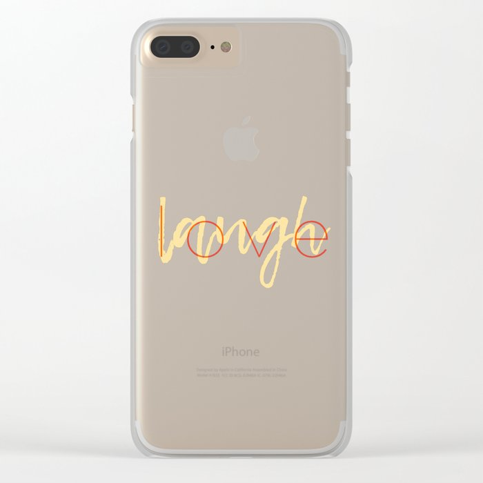 Love / Laugh Clear iPhone Case