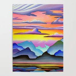 Colorful Coast Sunset Poster