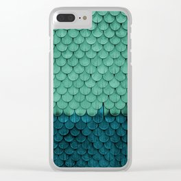 SHELTER / Green, Petrol Clear iPhone Case