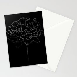 """""""Botanical Collection"""" - Peonies Flower Stationery Cards"""