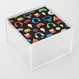 Video Game Party Snack Pattern Acrylic Box