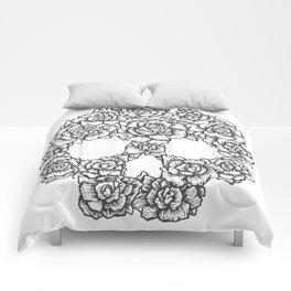 Skull of Roses Comforters