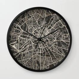 manchester map ink lines Wall Clock