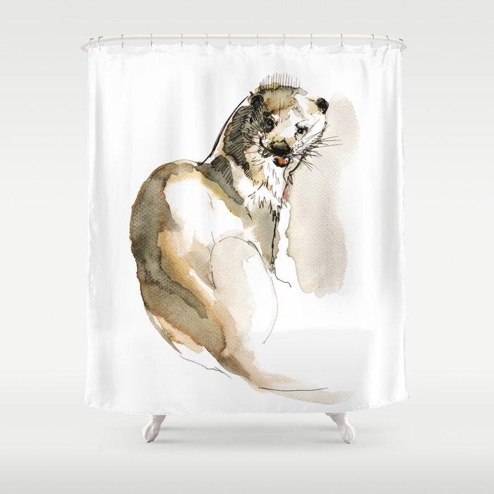 Totem Eurasian River Otter Shower Curtain