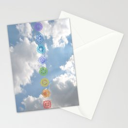 Chakras up to the Sky Stationery Cards