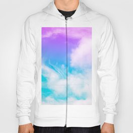 Dreamland | Purple blue bright clouds sky photography Hoody