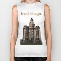 buildings Biker Tanks featuring Buildings by Wis Marvin
