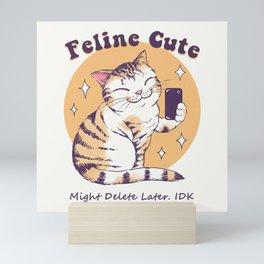 Feline Cute Challenge Mini Art Print