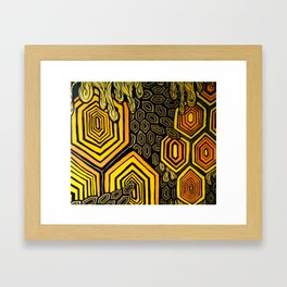 Hexagonal Reflections of an Empty Hive Framed Art Print