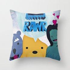 Rawr Returns! Throw Pillow