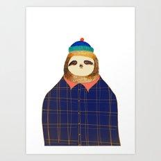 Hipster Sloths be like. Art Print