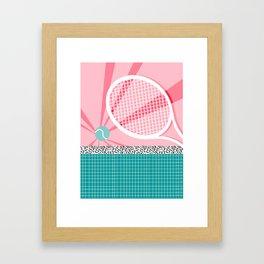 Boo Ya - tennis full court racquet palm springs resort sports vacation athlete pop art 1980s neon  Framed Art Print