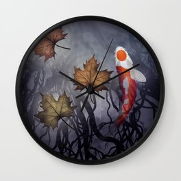 The carp's journey 4 Wall Clock